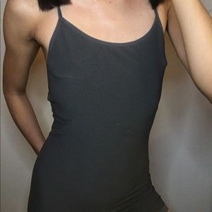 Grey small striped x back body suits